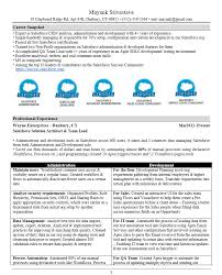 Best Solutions of Sample Salesforce Resume Also Template
