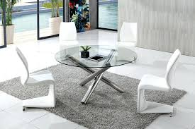 endearing round glass dining room sets table and chairs top circle clearance
