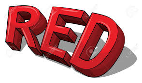 Word In Red Word Red In Capital Letters