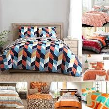 geometric bedding sets baby crib set orange