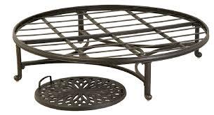 mayfair by hanamint luxury cast aluminum patio furniture 48 round ottoman