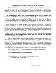 cover letter compare and contrast essay examples college contrast cover letter writing a compare contrast essay and example basiccompare and contrast essay examples college medium