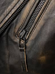 men s vintage leather biker jacket bucll detail