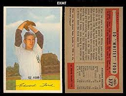 1954 Bowman Regular (Baseball) Card# 177 Edward Ford of the New York  Yankees ExMt Condition at Amazon's Sports Collectibles Store