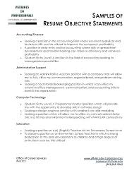 Objectives For Resumes Inspiration Objective Resume Examples For Students Example Career Samples Of