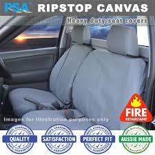 psa ripstop canvas seat covers rear bench only hilux workmate dual cab 7 11