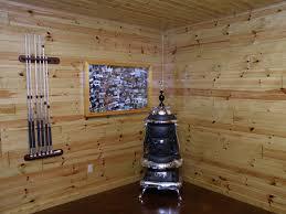 knotty pine paneling man cave