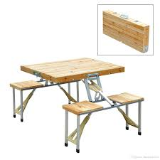 2018 new outdoor garden wooden portable folding camping picnic table with 4 seats from huangxinxin16 60 3 dhgate com