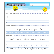 cursive word practice cursive writing template 8 free word pdf documents download