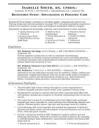 Rn Nursing Resume Examples Sample Resume For Rn Nurse Resume Examples 5