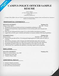 Resume For Police Officer Police Officer Resume No Experience Rome Fontanacountryinn Com