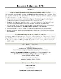 ... CFO Resume Sample intended for CFO Resume Sample ...