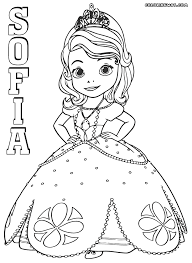 Small Picture Sofia The First colorings Coloring pages to download and print