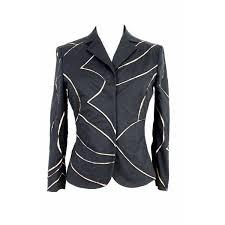 Alberta Ferretti Size Chart Alberta Ferretti Short Jacket Blazer Vintage Beige Striped Beige
