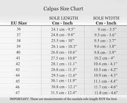 Calpas Sandals Women Men Size Charts Only For Flat Sandals