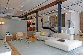 ... Modern Apartments In New York City : Luxurious Apatments Decoration  With High Ceiling And White Sofa ...