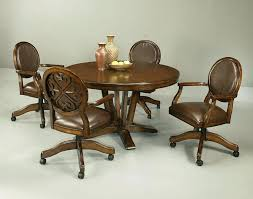 dining room chairs with casters image of kitchen chairs with rollers ideas dining room chairs casters