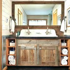 rustic bathroom double vanity.  Rustic Creative Rustic Bathroom Vanity With Sink Cabinets Vanities  Double Bath  To Rustic Bathroom Double Vanity S