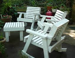 image of wooden outdoor chairs white
