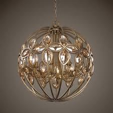 img uttermost ambre 8 light gold sphere chandelier