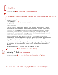 Formal Letter Spacing Contemporary Portrayal Business Example