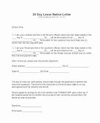 Notice To Tenant To Make Repairs Renter 30 Day Notice Template Awesome Notice To Tenant To Make