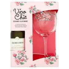 vino chic wine gl and semillon wine gift set