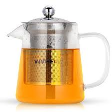 glass teapot tea maker tea infuser 304 stainless steel infuser germany clear glass