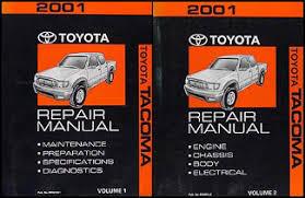 toyota tacoma pickup wiring diagram manual original 2001 toyota tacoma repair shop manual original set 199 00