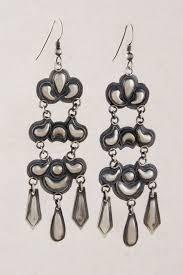 likable navajo oxidized sterling silver chandelier earrings eagle light ceiling stand earring lighting swarovski crystal