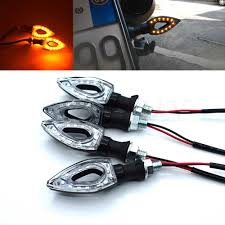 Universal <b>12V</b> 12 <b>LED Motorcycle Turn</b> Signal Indicator Flash Amber ...