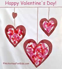 hearts stained glass suncatcher for valentine s day printable heart template at activitiesforkids com