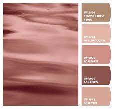 rose gold color palette