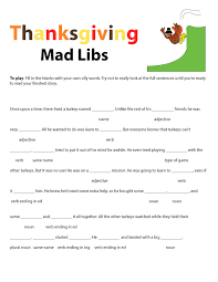 Thanksgiving Mad Libs - Modern Homemakers