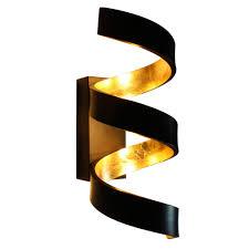 Cob Led Wandlampe Schwarz Gold Höhe 26 Cm Helix