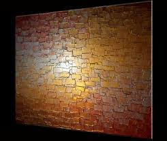 custom made palette knife painting metallic art textured paintings abstract gold copper