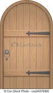 old wooden arch door csp34376360