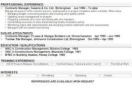 Free Executive Resume Template Cool Contracts Manager Cv Goalgoodwinmetalsco