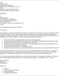 Ideas Of Cover Letter Recruiter Position Example With Letter To