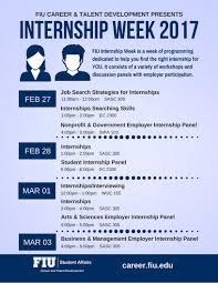 internship week academic success student affairs florida internship week schedule