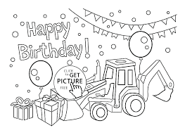 Happy Birthday Printable Coloring Pages Birthday Coloring Pages Free