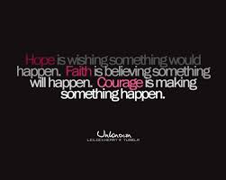 Hope And Faith Quotes Adorable Courage Faith Hope Like Text Inspiring Picture On Favim