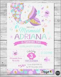 little mermaid invitations invite 1st first birthday party supplies pool ocean custominvitation birthday