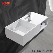 upc modern designs commercial wall mount artificial marble stone bathroom sink