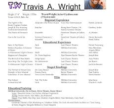 Musical Theatre Resume For Kids Perfect Resume Format