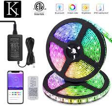 Types App Controlled Led Lights Korjo Dream Color Led Strip Lights 32 8ft 10m Bluetooth Led Chasing Light With App Waterproof 12v 300 Leds 5050 Rgb Color Changing Rope Light Kit
