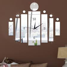 Charming New Acrylic Technology Digital Wall Clock Mirror Wall Clock Bedroom Clock  Creative Living Room Quiet Clock In Wall Clocks From Home U0026 Garden On ...