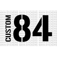 Number Stencil Font Military Stencil Style Name And Number Stickers For Royal Enfields