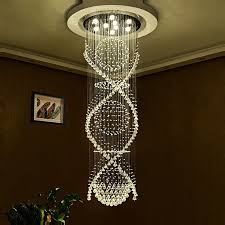 modern led crystal ceiling pendant light indoor chandeliers home hanging down lighting lamps fixtures