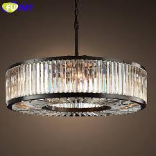 fumat american retro crystal pendant lamp european round led light for dining room bedroom restaurant living room pendant light large pendant light vintage